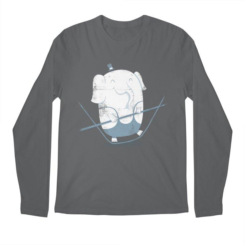Balancing Act (Blue) Men's Longsleeve T-Shirt by boney's Artist Shop
