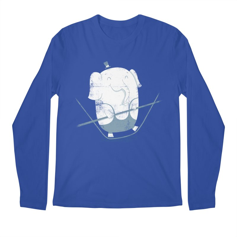 Balancing Act (Blue) Men's Longsleeve T-Shirt by boney's Artist Shop