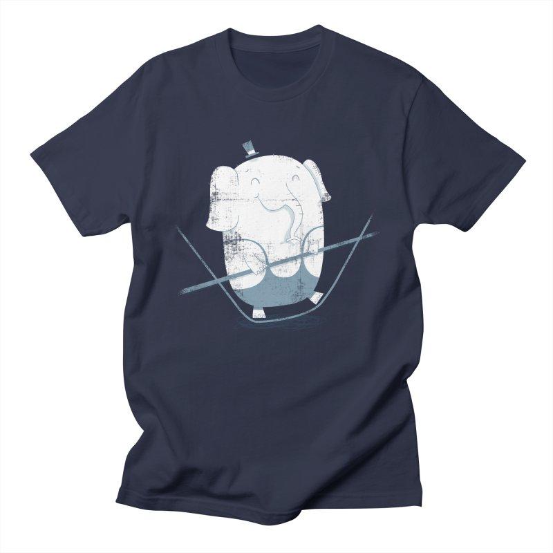 Balancing Act (Blue) Men's T-Shirt by boney's Artist Shop