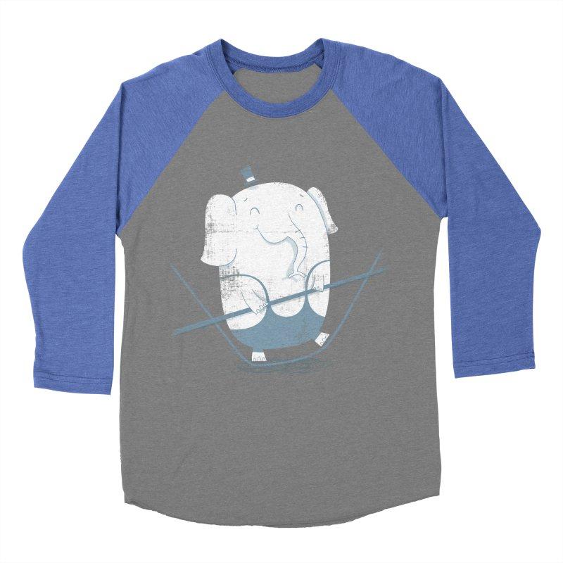 Balancing Act (Blue) Women's Baseball Triblend T-Shirt by boney's Artist Shop