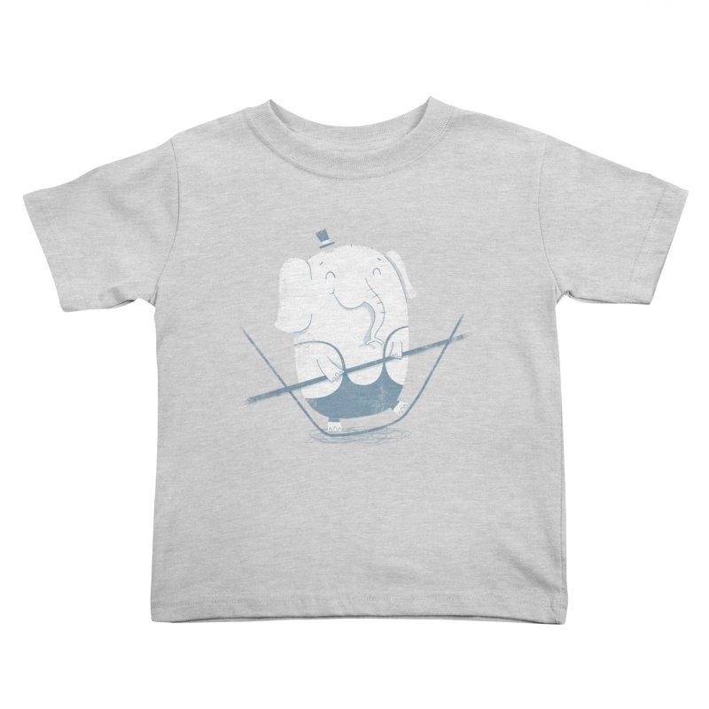 Balancing Act (Blue) Kids Toddler T-Shirt by boney's Artist Shop