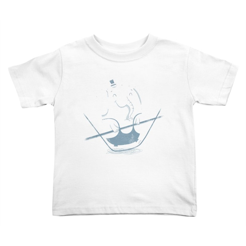 Balancing Act (Blue) Kids Toddler T-Shirt by boney's Artist Shop