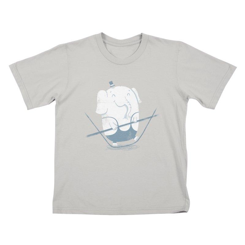 Balancing Act (Blue) Kids T-Shirt by boney's Artist Shop