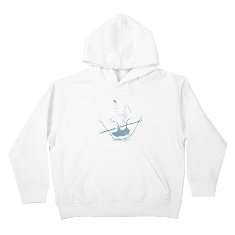 Balancing Act (Blue) Kids Pullover Hoody by boney's Artist Shop