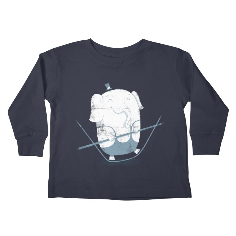 Balancing Act (Blue) Kids Toddler Longsleeve T-Shirt by boney's Artist Shop