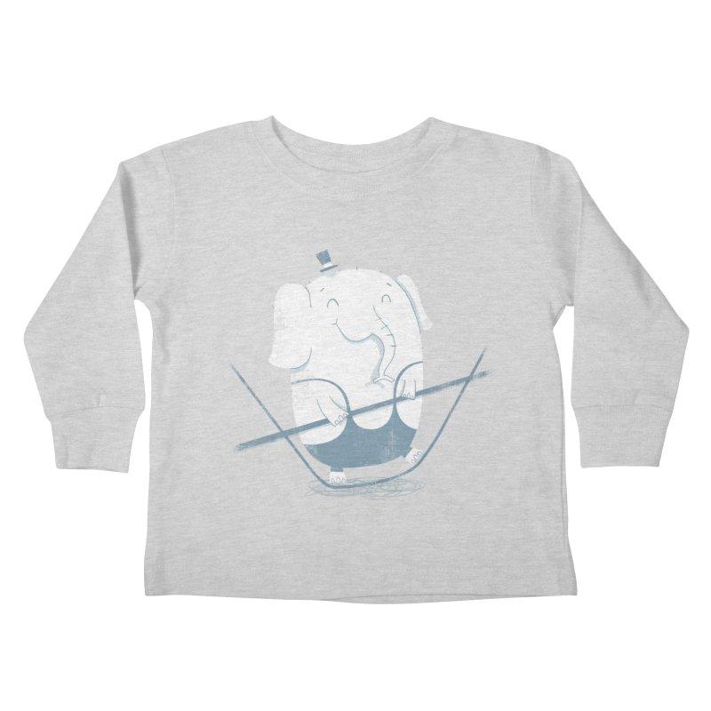 Balancing Act (Blue) Kids Toddler Longsleeve T-Shirt by boney's Artist Shop