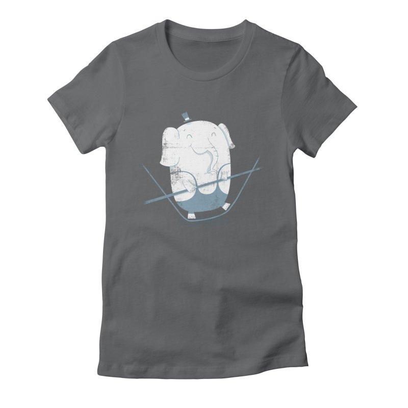Balancing Act (Blue) Women's Fitted T-Shirt by boney's Artist Shop