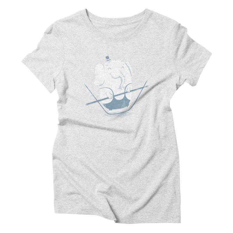 Balancing Act (Blue) Women's Triblend T-Shirt by boney's Artist Shop