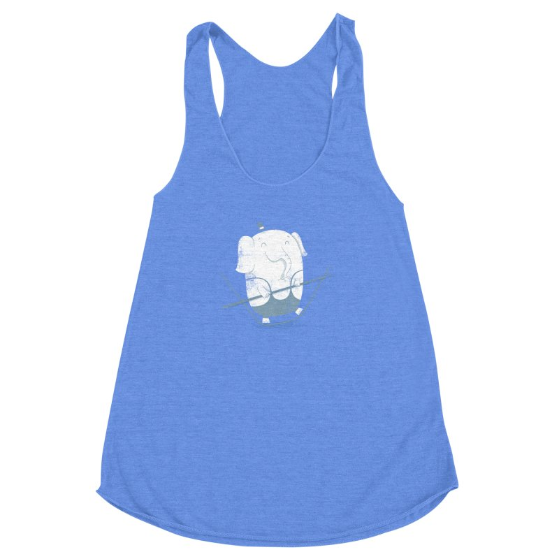 Balancing Act (Blue) Women's Racerback Triblend Tank by boney's Artist Shop