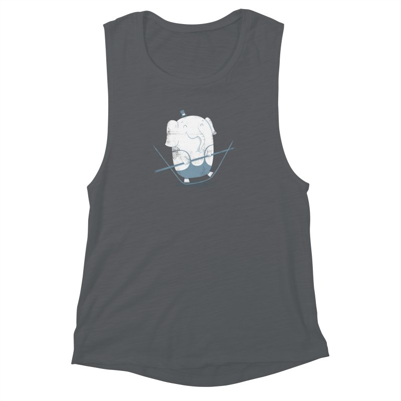 Balancing Act (Blue) Women's Muscle Tank by boney's Artist Shop