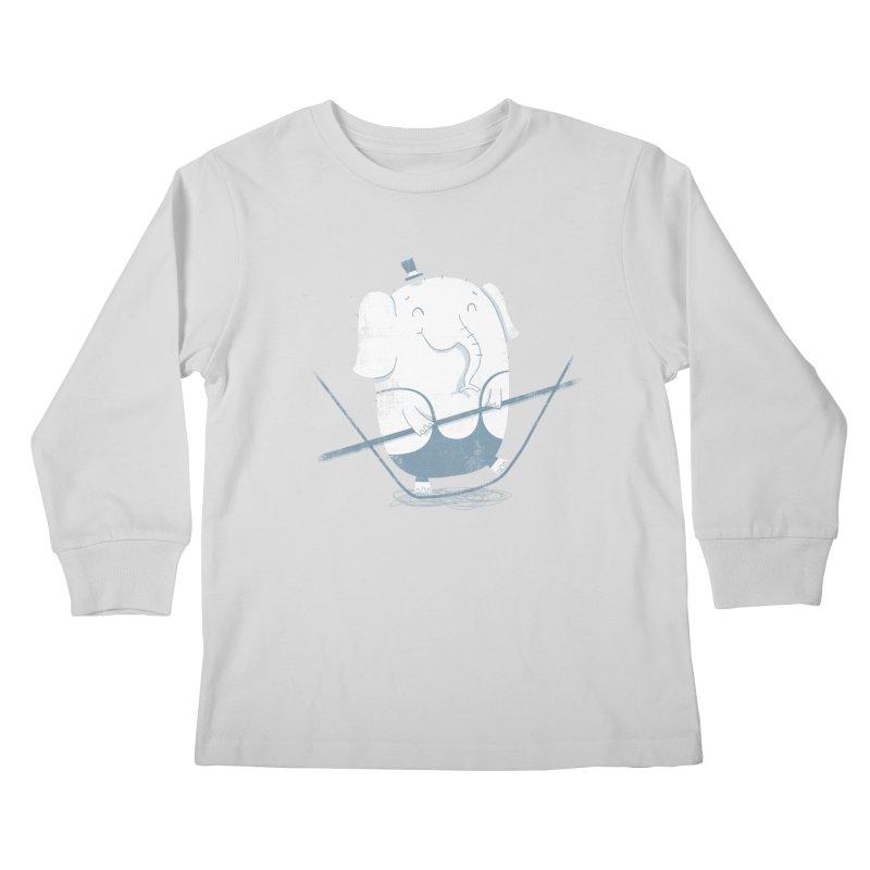 Balancing Act (Blue) Kids Longsleeve T-Shirt by boney's Artist Shop