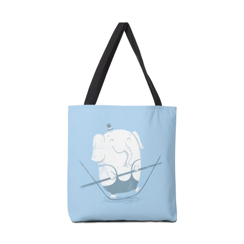 Balancing Act (Blue) Accessories Bag by boney's Artist Shop