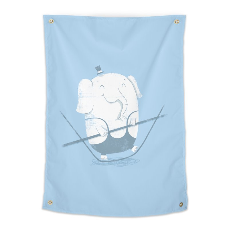 Balancing Act (Blue) Home Tapestry by boney's Artist Shop