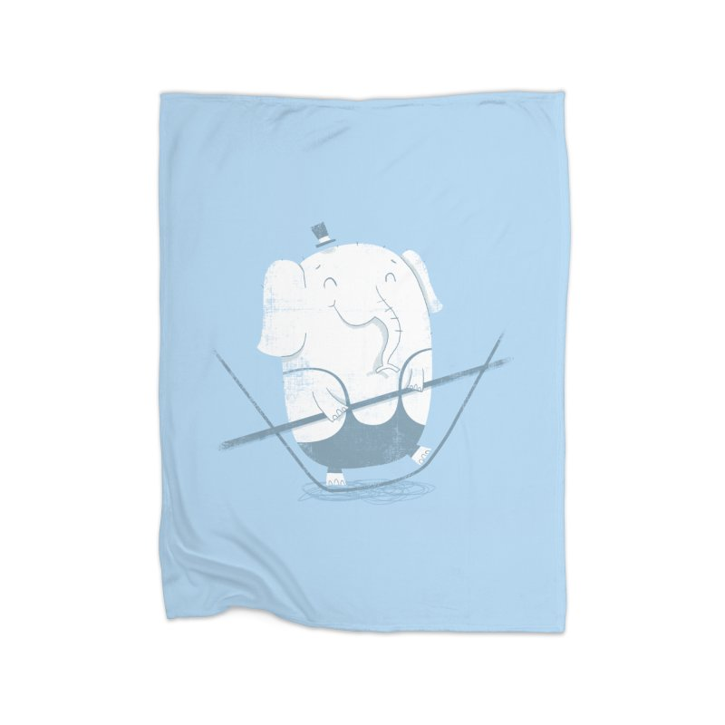 Balancing Act (Blue) Home Blanket by boney's Artist Shop
