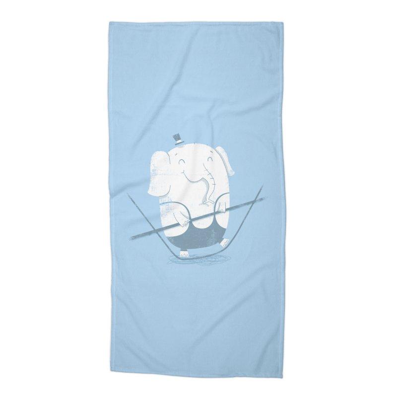 Balancing Act (Blue) Accessories Beach Towel by boney's Artist Shop