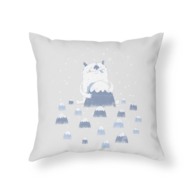 Adorable Abominable Home Throw Pillow by boney's Artist Shop