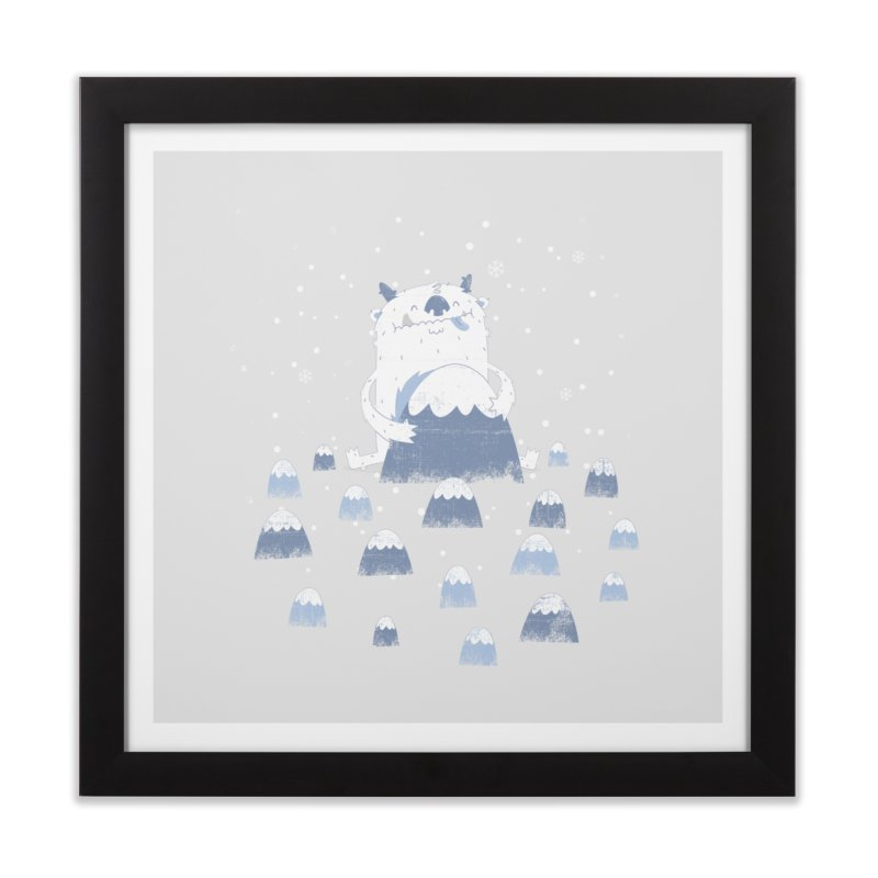 Adorable Abominable Home Framed Fine Art Print by boney's Artist Shop