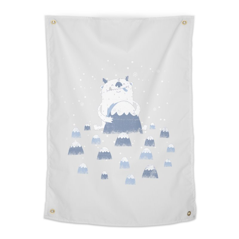 Adorable Abominable Home Tapestry by boney's Artist Shop