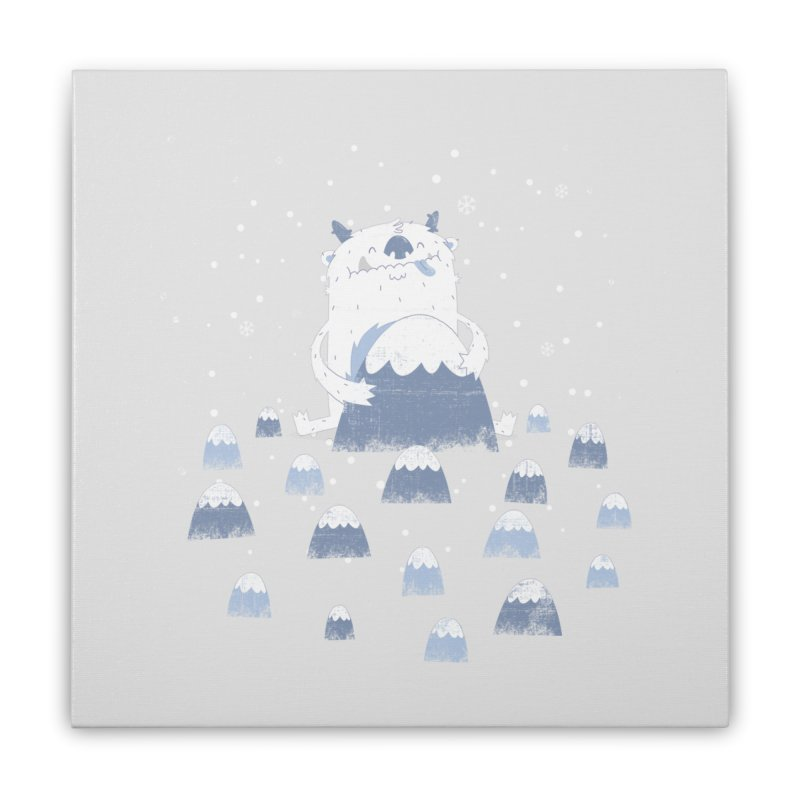 Adorable Abominable Home Stretched Canvas by boney's Artist Shop