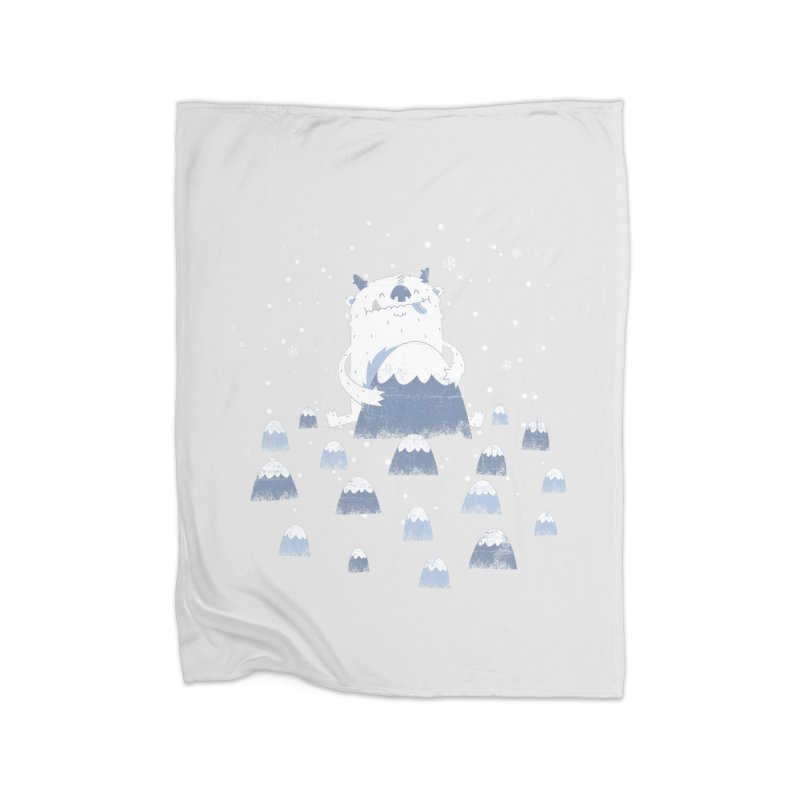 Adorable Abominable Home Blanket by boney's Artist Shop