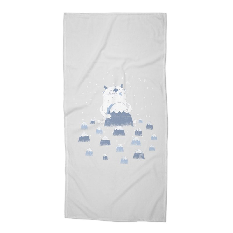 Adorable Abominable Accessories Beach Towel by boney's Artist Shop