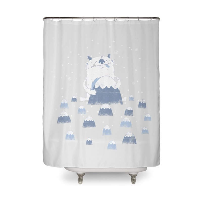 Adorable Abominable Home Shower Curtain by boney's Artist Shop
