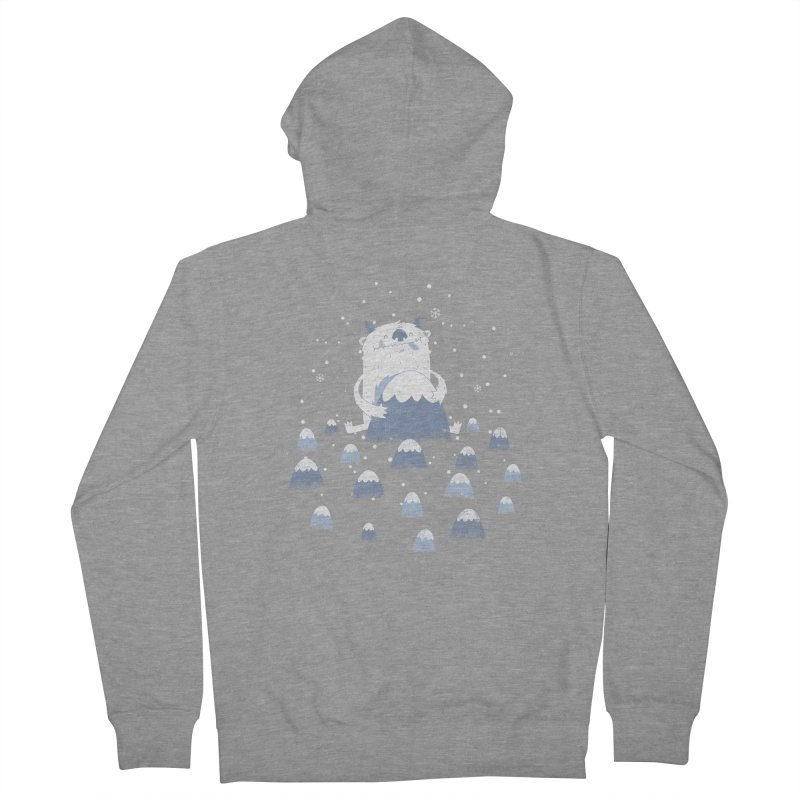 Adorable Abominable Men's Zip-Up Hoody by boney's Artist Shop