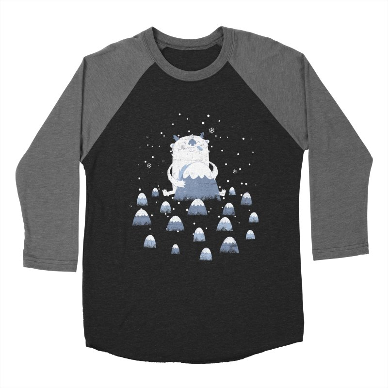 Adorable Abominable Men's Baseball Triblend T-Shirt by boney's Artist Shop