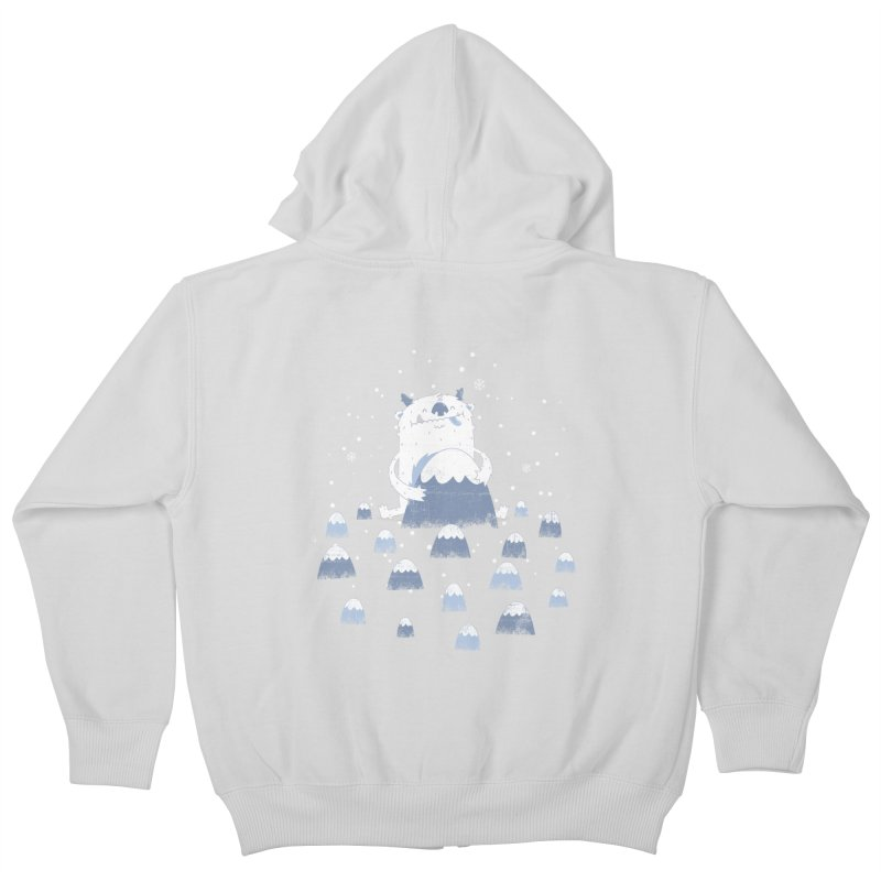 Adorable Abominable Kids Zip-Up Hoody by boney's Artist Shop