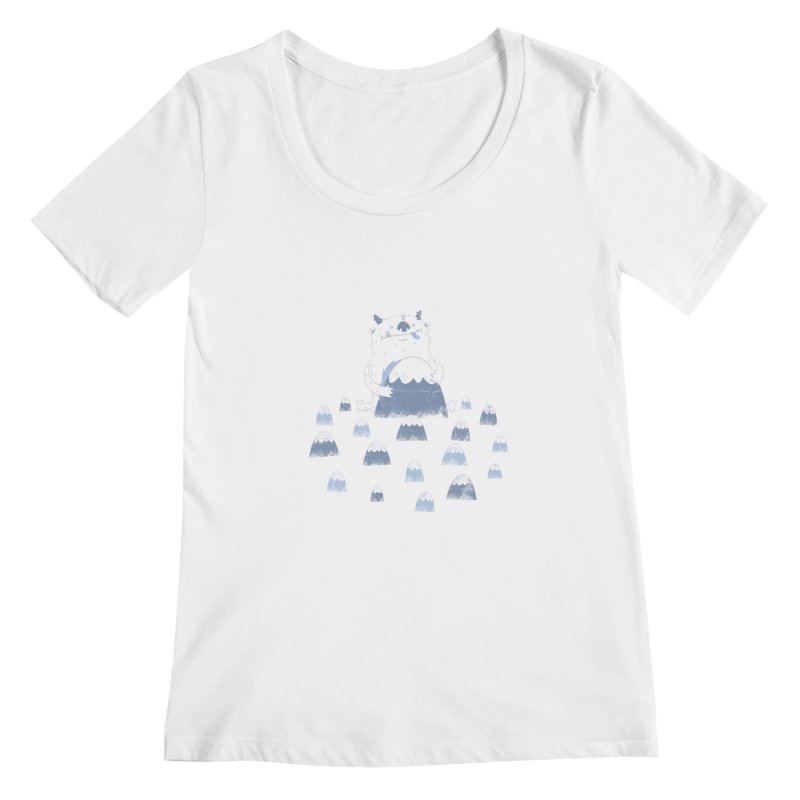 Adorable Abominable Women's Scoopneck by boney's Artist Shop