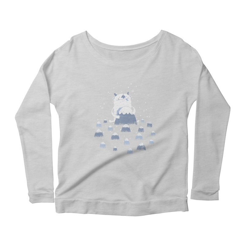 Adorable Abominable Women's Longsleeve Scoopneck  by boney's Artist Shop