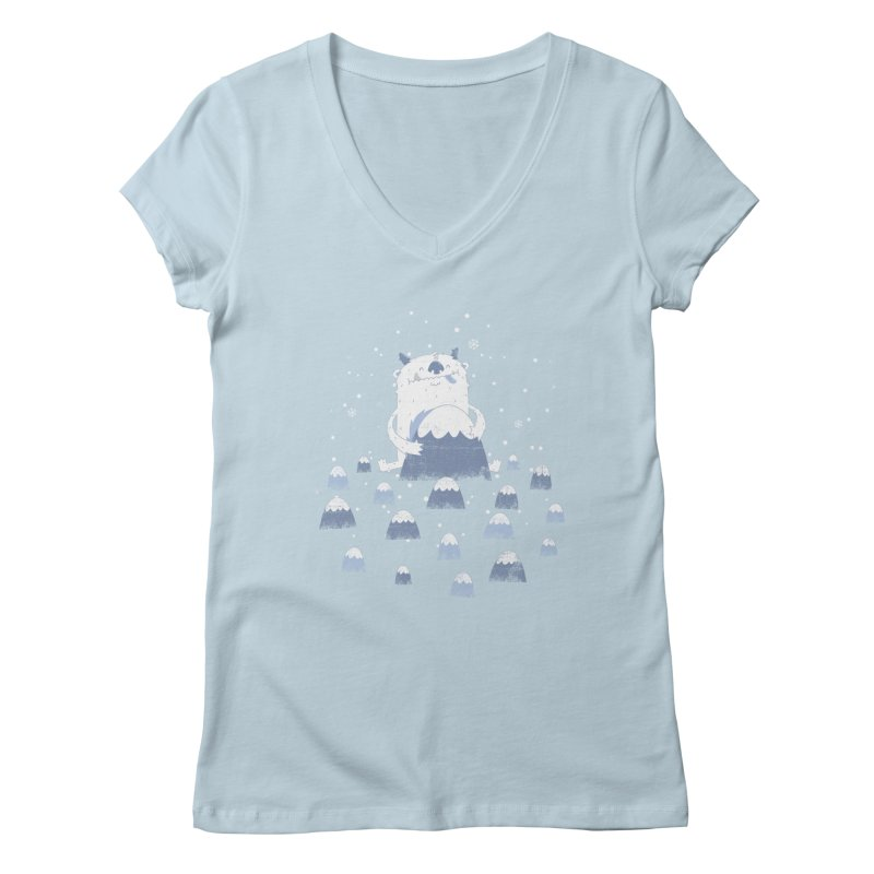 Adorable Abominable Women's V-Neck by boney's Artist Shop