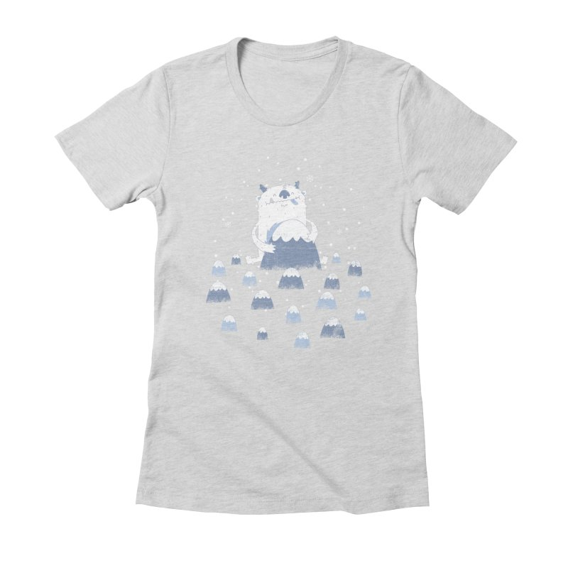 Adorable Abominable Women's Fitted T-Shirt by boney's Artist Shop