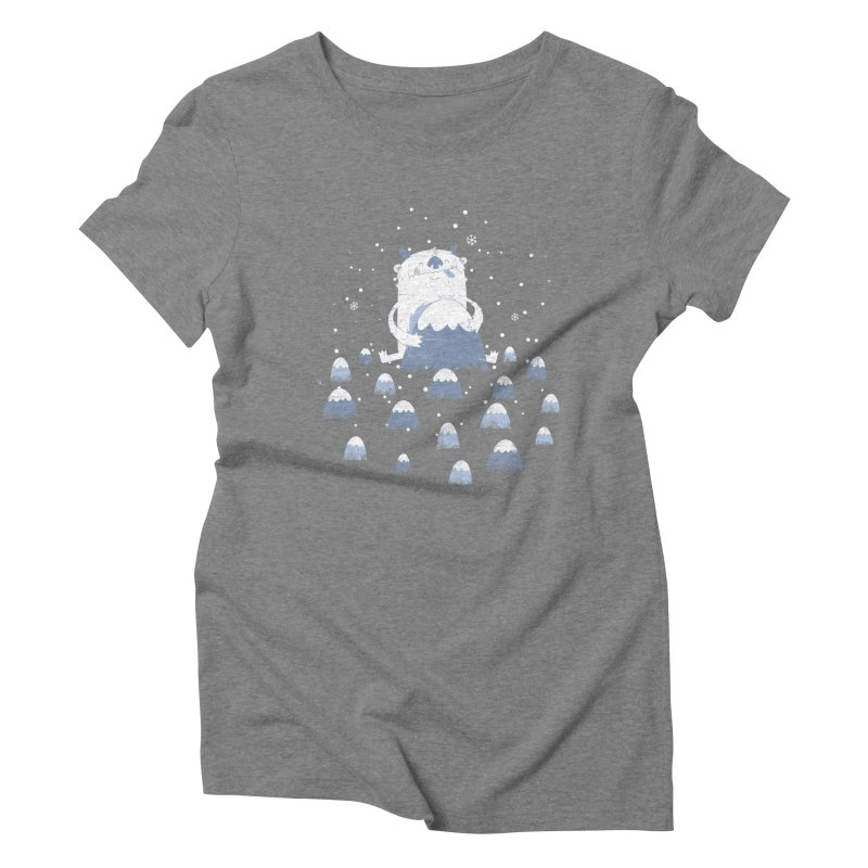 Adorable Abominable Women's Triblend T-Shirt by boney's Artist Shop