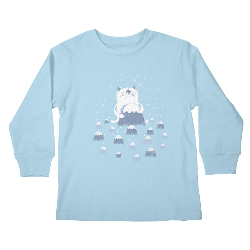 Adorable Abominable Kids Longsleeve T-Shirt by boney's Artist Shop