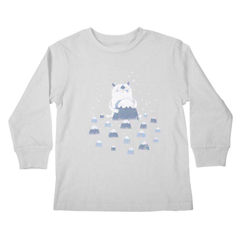 Adorable Abominable Kids Longsleeve T-Shirt by boney's Artist Shop