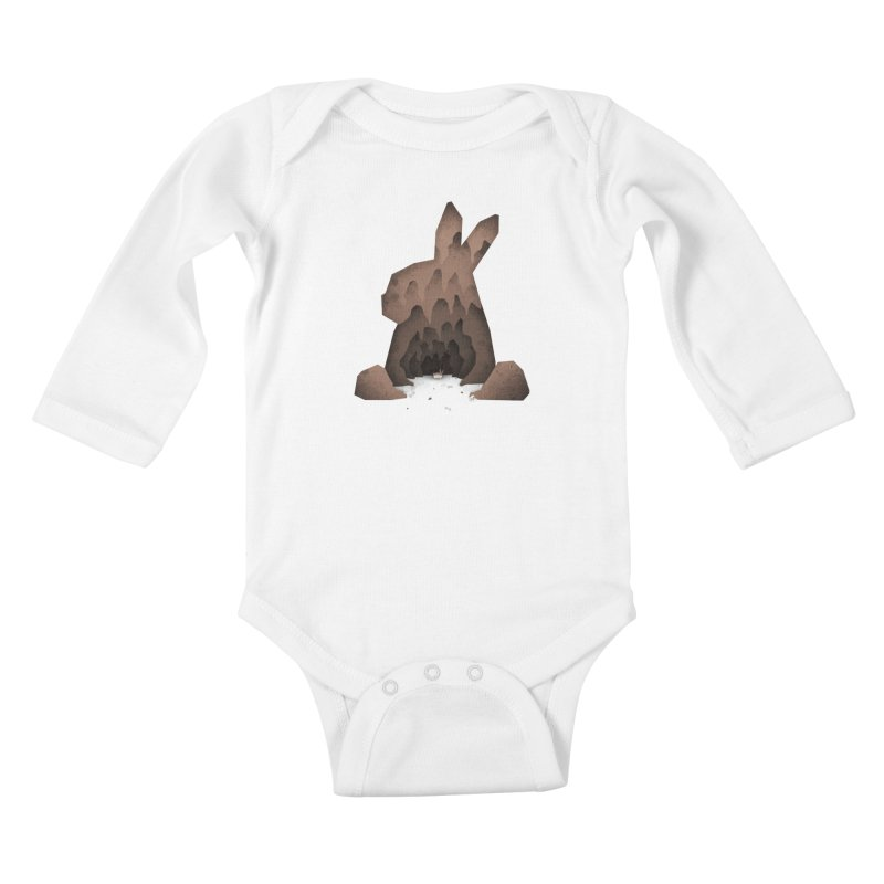 That's No Ordinary Rabbit Kids Baby Longsleeve Bodysuit by boney's Artist Shop