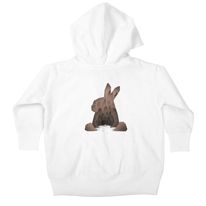That's No Ordinary Rabbit Kids Baby Zip-Up Hoody by boney's Artist Shop