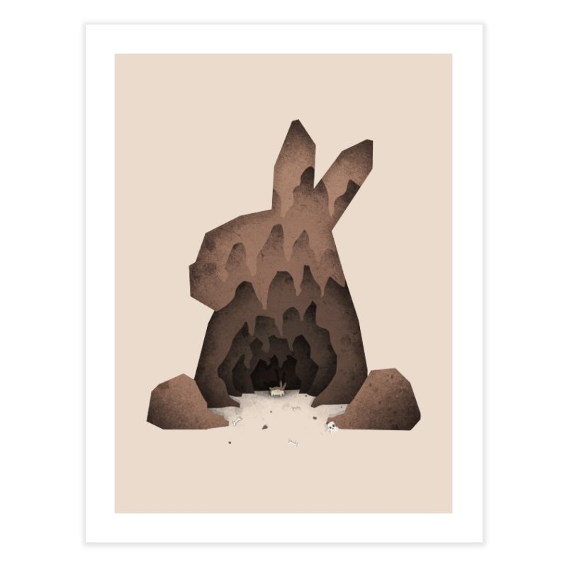 That's No Ordinary Rabbit Home Fine Art Print by boney's Artist Shop