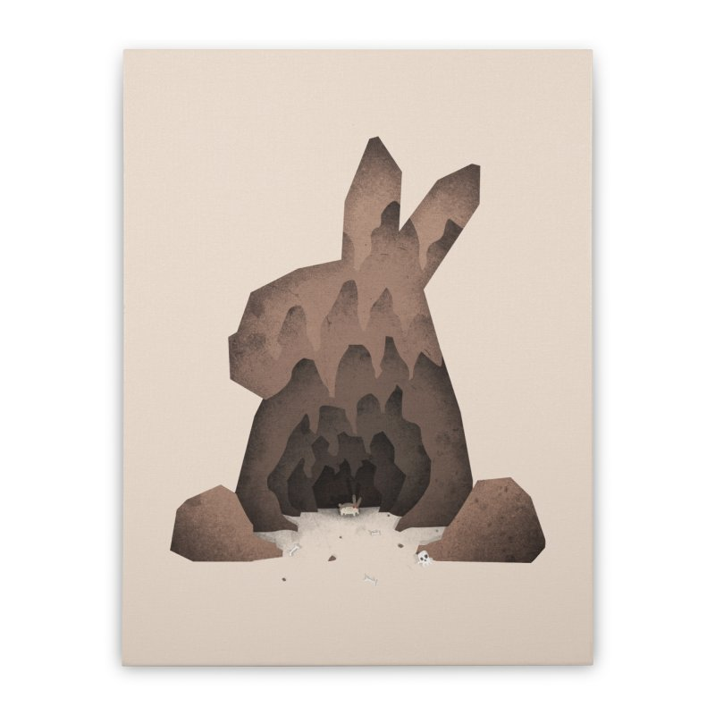 That's No Ordinary Rabbit Home Stretched Canvas by boney's Artist Shop