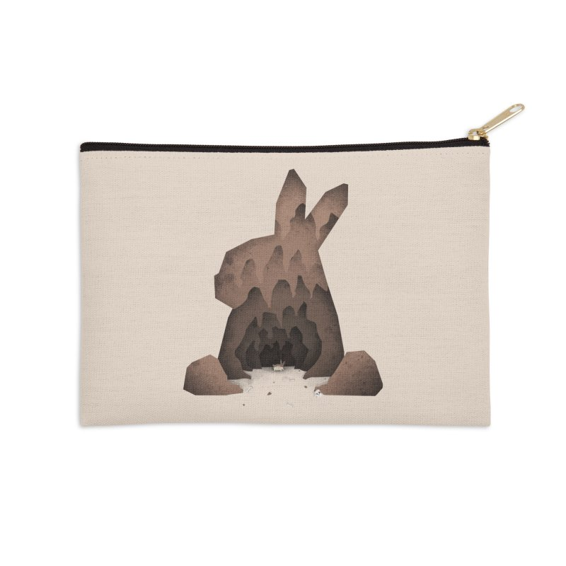 That's No Ordinary Rabbit Accessories Zip Pouch by boney's Artist Shop