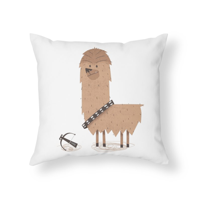 Chewpaca Home Throw Pillow by boney's Artist Shop