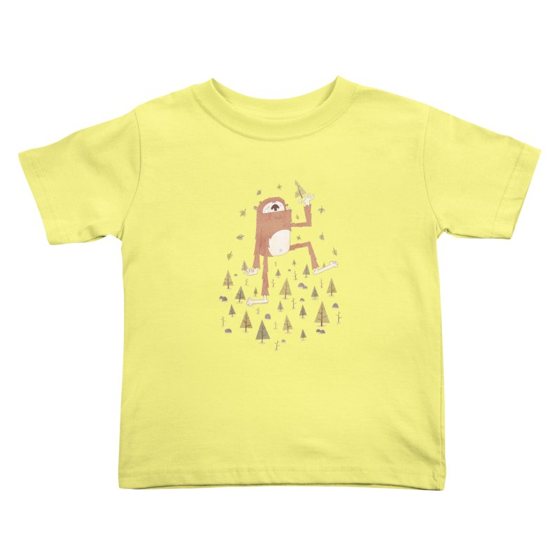 Sasquatch Salad Kids Toddler T-Shirt by boney's Artist Shop