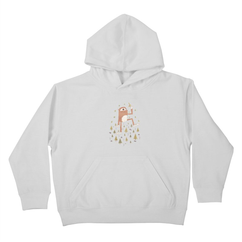 Sasquatch Salad Kids Pullover Hoody by boney's Artist Shop
