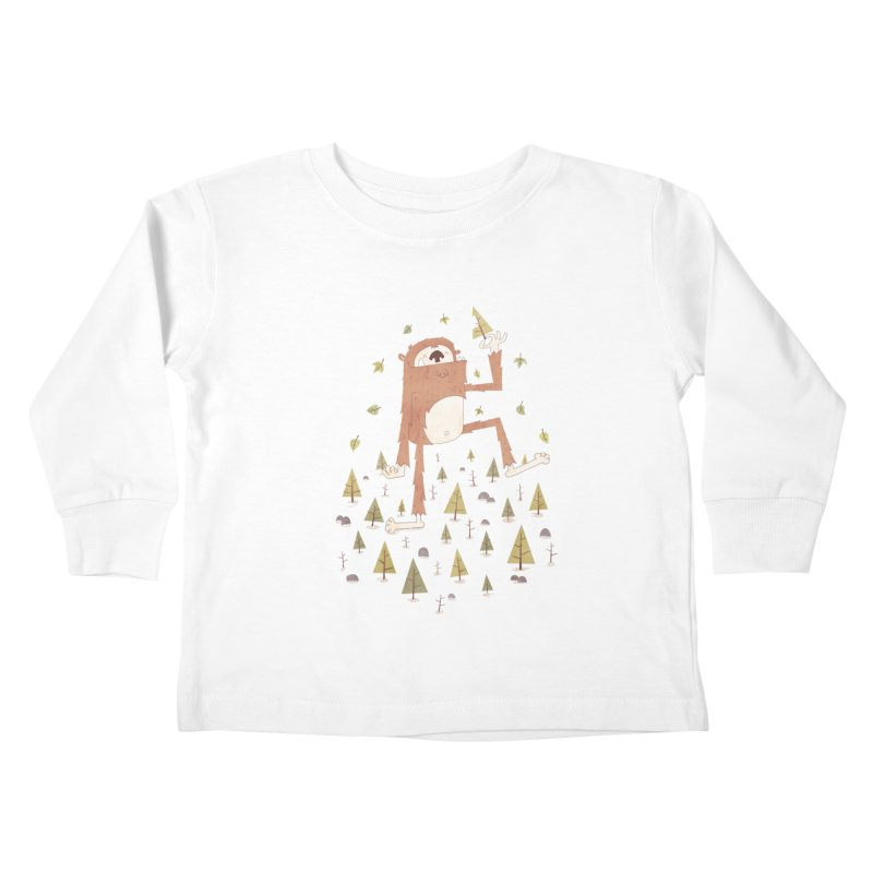 Sasquatch Salad Kids Toddler Longsleeve T-Shirt by boney's Artist Shop