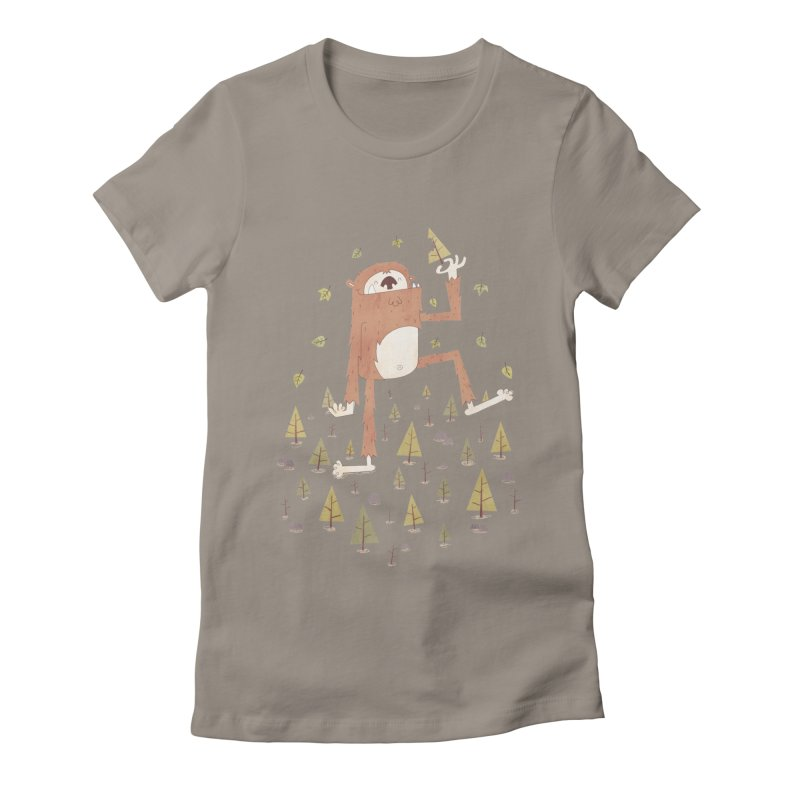 Sasquatch Salad Women's Fitted T-Shirt by boney's Artist Shop