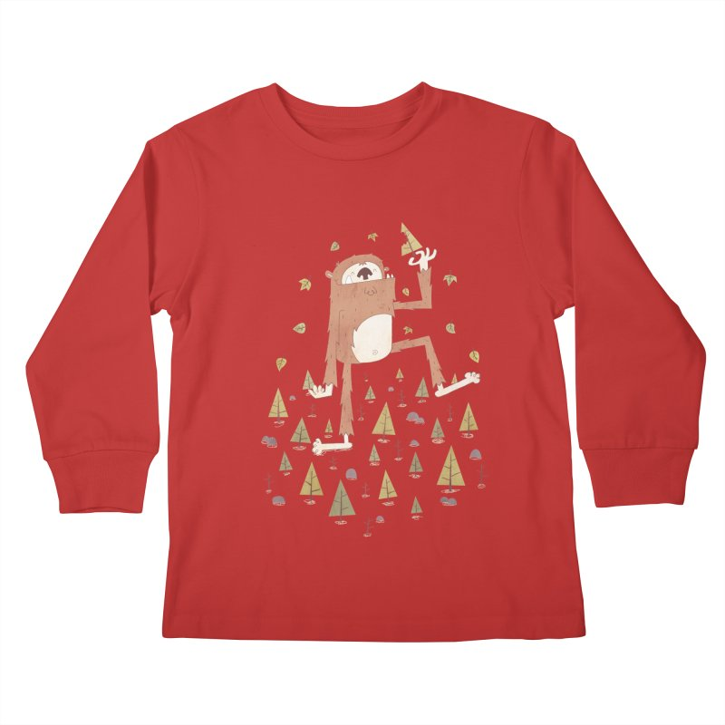 Sasquatch Salad Kids Longsleeve T-Shirt by boney's Artist Shop