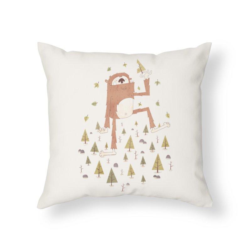 Sasquatch Salad Home Throw Pillow by boney's Artist Shop