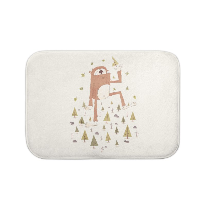 Sasquatch Salad Home Bath Mat by boney's Artist Shop