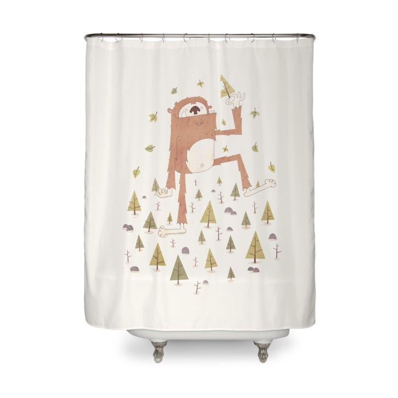 Sasquatch Salad Home Shower Curtain by boney's Artist Shop